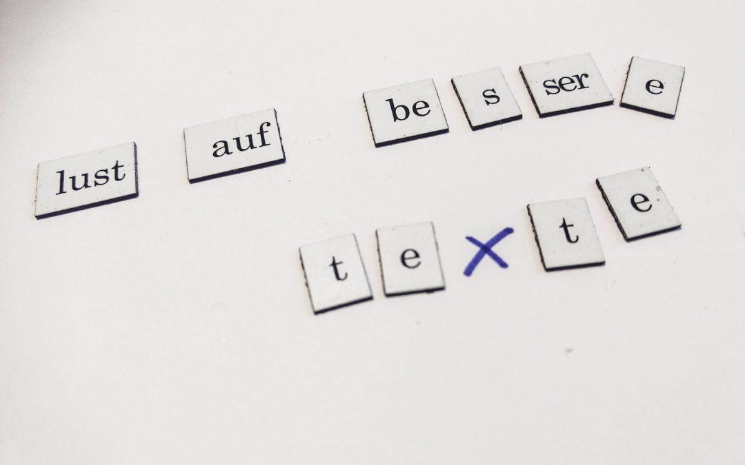 Weniger Schmuck – bessere Texte